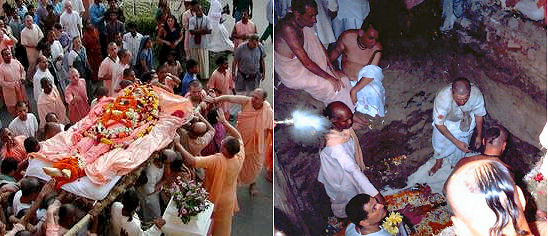 Tamal Krsna Swami dead 1946-2002 burial of his corpse
